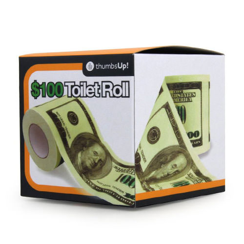 100 Dollar Bill Toilet Roll