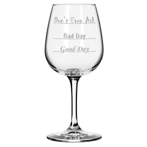 Don't Even Ask Wine Glass